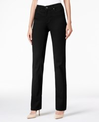 Charter Club Petite Lexington Saturated Black Wash Straight Leg Jeans Only At Macy's