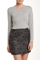 In Cashmere Fine Knit Long Sleeve Tee Gray
