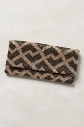 Moyna Aurora Foldover Clutch Dk Brown Taupe