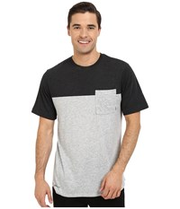 Nike Sb Dri Fit Blocked Pocket Tee Dark Grey Heather Black Heather Men's T Shirt Gray