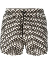 Fendi 'Monster Eyes' Print Swim Shorts Green