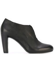 Roberto Del Carlo Laceless Heeled Ankle Boots Black