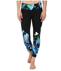 New Balance Fashion Crop Pants Underwater Floral Black Women's Casual Pants