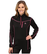 Salomon Atlantis Half Zip Black Women's Clothing