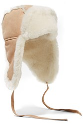 Australia Luxe Collective Raf Shearling Lined Suede Hat Sand