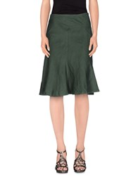 Armani Jeans Skirts Knee Length Skirts Women Dark Green