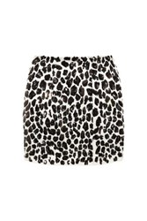 Skaist Taylor Sequined Silk Mini Skirt Leopard Print