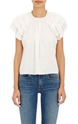 Ulla Johnson Women's Leoda Silk Top White