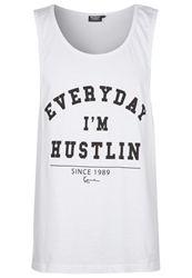 Karl Kani Hustle Top White