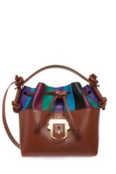 Paula Cademartori Petite Eugenie Bucket Bag Brown