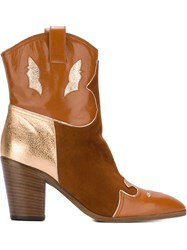 Jean Michel Cazabat Texas Boots Brown