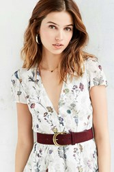 Urban Outfitters Suede Belt Red