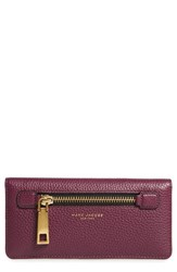 Marc Jacobs Women's 'Gotham' Leather Wallet Burgundy Iris