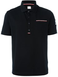 Moncler Gamme Bleu Logo Patch Polo Shirt Blue