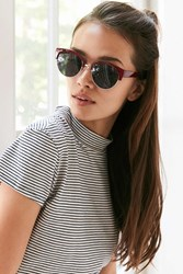 Urban Outfitters Kathleen Half Frame Sunglasses Maroon