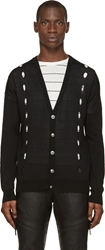Versus Black Knit Cut Out Cardigan