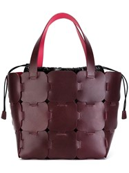 Paco Rabanne Double Straps Large Tote Pink Purple