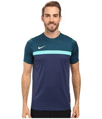 Nike Academy S S Training Top 1 Midnight Turquoise Hyper Jade Midnight Navy White Men's T Shirt Blue