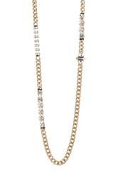 Sam Edelman Rhinestone Accent Chain Necklace No Color