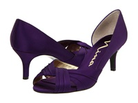 Nina Culver Grape Satin Women's Bridal Shoes Purple