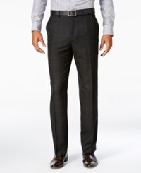 Sean John Men's Classic Fit Black Windowpane Suit Pants
