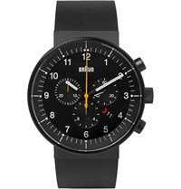 Braun Bn0095 Rubber And Stainless Steel Watch Black