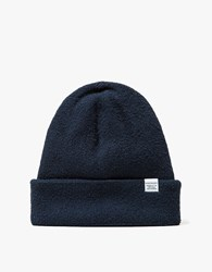 Norse Projects Texture Beanie Navy