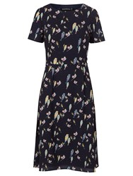 Sugarhill Boutique Maya Bright Birdie Dress Navy