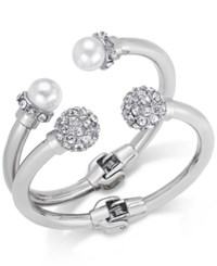 Inc International Concepts Imitation Pearl And Crystal Fireball Hinge Bracelet Set Only At Macy's