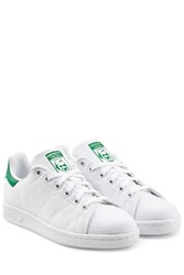 Adidas Originals Stan Smith Embroidered Canvas Sneakers White