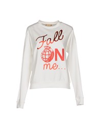 Met And Friends Topwear Sweatshirts Women White