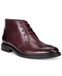 Alfani Men's Lombard Plain Toe Chukka Boots Only At Macy's Men's Shoes Oxblood