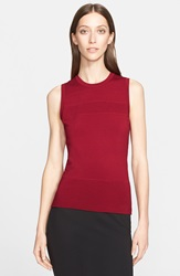 Donna Karan Textured Stripe Shell Dark Cherry