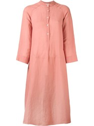 Forte Forte Band Collar Tunic Dress Pink And Purple