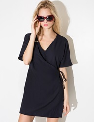 Navy Wrap Dress Navy Shirt Dress
