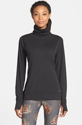 Women's Burton 'Wb' High Neck Shirt True Black