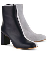 Maryam Nassir Zadeh Navy And Ice Leather Agnes Split Boots Blue