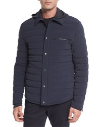 Vince Quilted Shirt Style Ski Parka Coastal