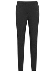 Reiss Darla Skinny Jacquard Trousers Black
