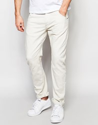 G Star G Star Jeans Arc 3D Slim Fit Stretch Overdye Twill In Oatmeal Oatmeal Beige