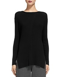 Whistles Savannah Split Side Sweater Black