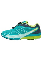 Salomon X Scream 3D Trail Running Shoes Teal Blue Slate Blue Ganny Green Turquoise