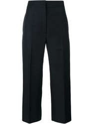 Marni Cropped Trousers With Front Pleat Black