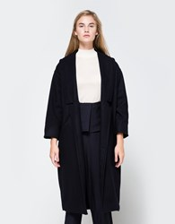 Objects Without Meaning Long Robe Coat Navy