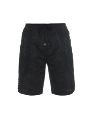 Dolce And Gabbana Brocade Trim Cotton Blend Shorts
