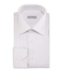 Stefano Ricci Fancy Stripe Barrel Cuff Dress Shirt Black Men's