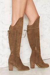 Nasty Gal Sbicca Gusto Over The Knee Suede Boot