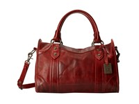 Frye Melissa Satchel Burgundy Antique Pull Up Satchel Handbags Brown