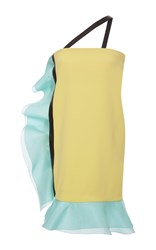 Ungaro Emanuel One Shoulder Ruffle Dress Yellow