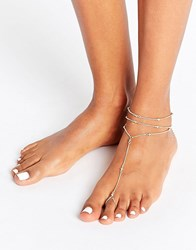 Asos Simple Ball Foot Chain Anklet Gold